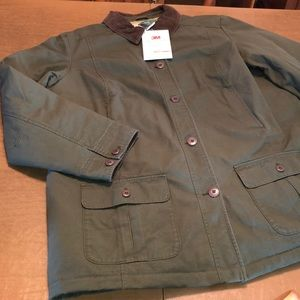 L.L. BEAN 3M Quilt Lined Barn Chore Field Coat XL